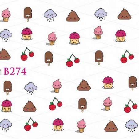NAKLEJKI WODNE - B274