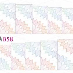 NAKLEJKI WODNE - B58