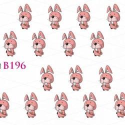 NAKLEJKI WODNE - B196