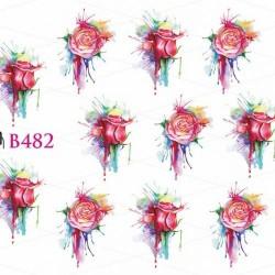 NAKLEJKI WODNE - B482