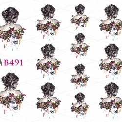 NAKLEJKI WODNE - B491